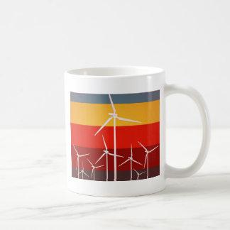 Estilo del vintage de las turbinas de viento taza de café