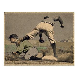 Estilo del vintage del béisbol tarjetas postales