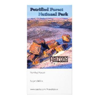 Estilo del vintage del bosque aterrorizado tarjetas fotográficas personalizadas