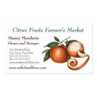 Estilo del vintage del mercado de los granjeros tarjetas de visita