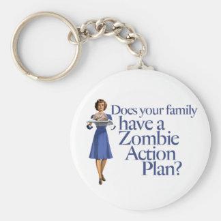 Estilo del vintage del plan de actuación del zombi llavero personalizado