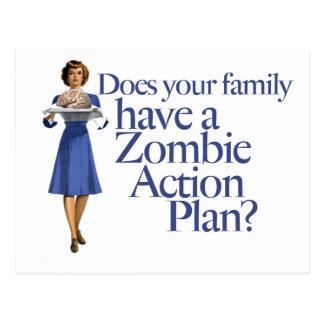 Estilo del vintage del plan de actuación del zombi postal