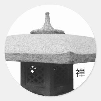 Estilo del zen pegatina redonda
