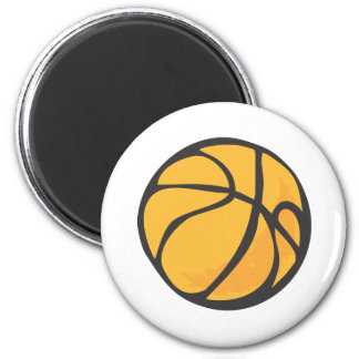 Estilo dibujado del baloncesto a disposición imán redondo 5 cm