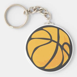 Estilo dibujado del baloncesto a disposición llavero redondo tipo pin