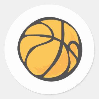 Estilo dibujado del baloncesto a disposición etiquetas redondas