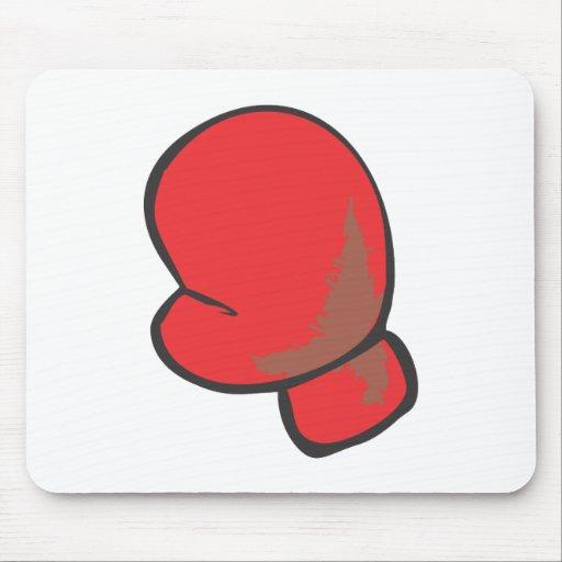 Estilo dibujado del guante de boxeo a disposición mouse pad