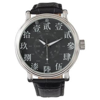 Estilo difícil del kanji de Japón viejo [cara Relojes De Mano