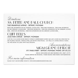 Estilo elegante del art déco de la tarjeta de info anuncio personalizado