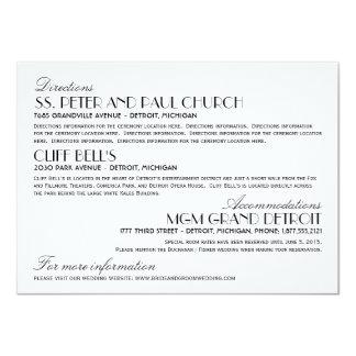 Estilo elegante del art déco de la tarjeta de invitación 11,4 x 15,8 cm