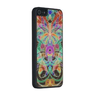Estilo étnico de madera del iPhone 5/5s del caso