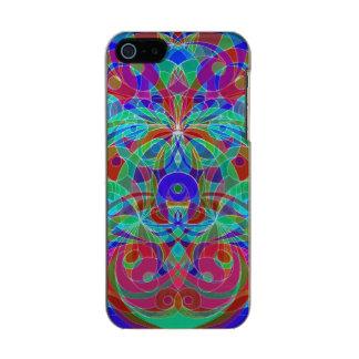 estilo étnico del caso del iPhone 5/5s Carcasa De Iphone 5 Incipio Feather Shine