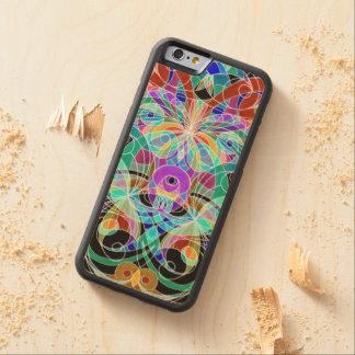Estilo étnico del iPhone 6 de madera del caso Funda De iPhone 6 Bumper Arce