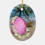 Estilo feliz del Hawaiian de Pascua Adornos De Navidad