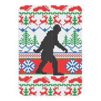 Estilo feo ido del punto del suéter del navidad de invitación 8,9 x 12,7 cm