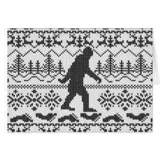 Estilo feo ido del punto del suéter del navidad de tarjetón