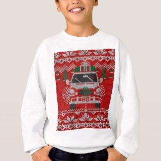 Estilo feo sospechado rojo del suéter del