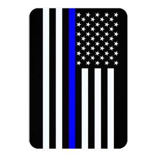 """Estilo fino del americano de Blue Line Invitación 3.5"""" X 5"""""""