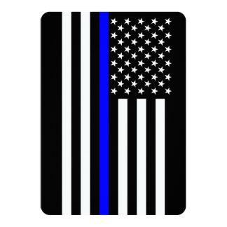 """Estilo fino del americano de Blue Line Invitación 5"""" X 7"""""""