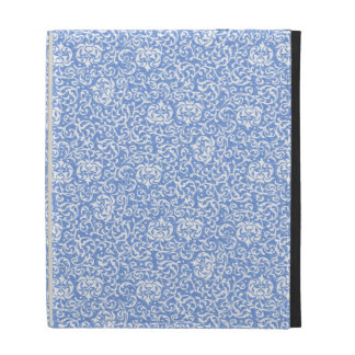 Estilo floral azul y blanco del vintage del