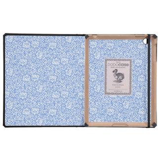 Estilo floral azul y blanco del vintage del iPad cárcasa