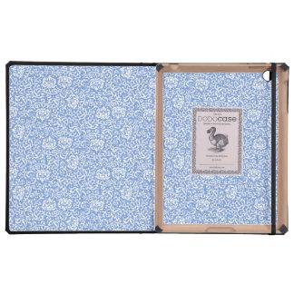 Estilo floral azul y blanco del vintage del iPad fundas