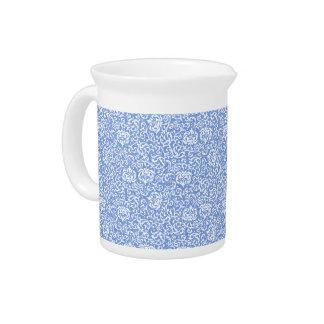 Estilo floral azul y blanco del vintage del jarra para bebida