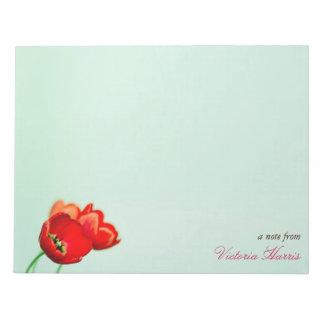 Estilo floral del bokeh de la verde menta del tuli bloc de notas