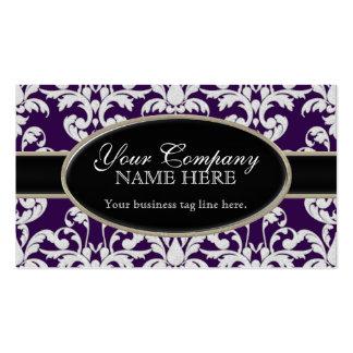 Estilo floral del remolino moderno lujoso elegante tarjetas de visita