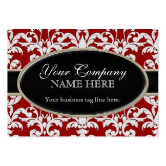 Estilo floral del remolino moderno lujoso elegante tarjetas de visita grandes