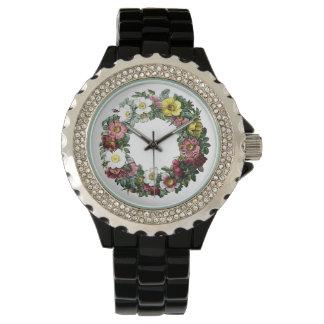 estilo floral del vintage reloj de mano