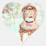 Estilo francés del Victorian de la magdalena Colcomanias Corazon Personalizadas