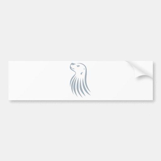 Estilo fresco del logotipo del icono del Monje-Cha Etiqueta De Parachoque