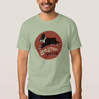 Estilo fresco del vintage de Boston Terrier Remera