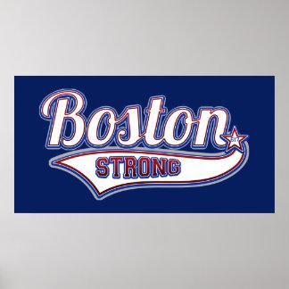 Estilo fuerte del hockey de Boston Posters