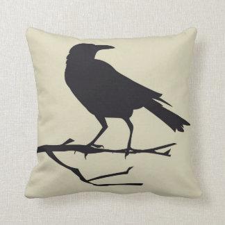 Estilo gótico 3 de la almohada del pájaro del cuer