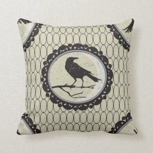 Estilo gótico elegante 1 de la almohada del pájaro