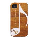 estilo gráfico de madera de la música Case-Mate iPhone 4 carcasas