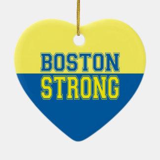 Estilo gráfico fuerte de Boston Adorno Navideño De Cerámica En Forma De Corazón
