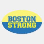 Estilo gráfico fuerte de Boston Pegatina Ovalada