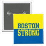 Estilo gráfico fuerte de Boston Pin Cuadrado