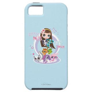 Estilo grande 2 de los pequeños mascotas iPhone 5 Case-Mate protectores
