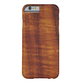 Estilo hawaiano rizado de madera de Koa Funda Barely There iPhone 6