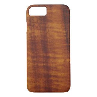 Estilo hawaiano rizado de madera de Koa Funda iPhone 7