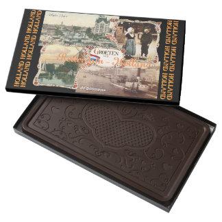 Estilo Holanda Rotterdam del vintage Caja Con Tableta De Chocolate Negro Grande