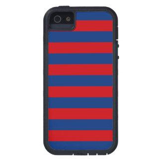 Estilo horizontal de las rayas del tema náutico iPhone 5 carcasas