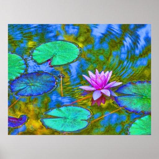 Estilo impresionista Lilypad en jardín italiano Impresiones
