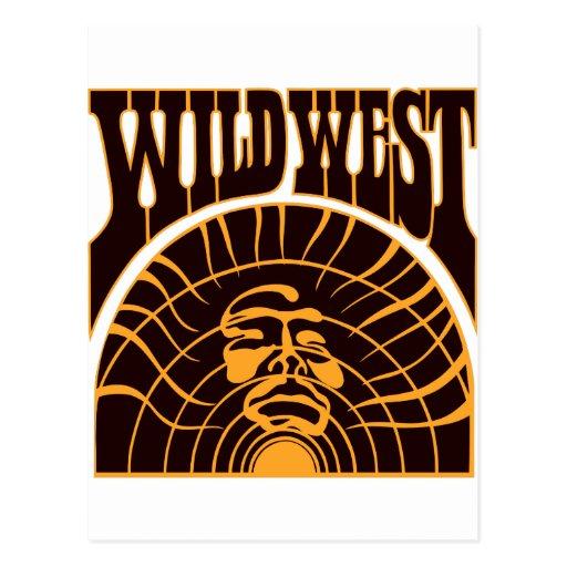 Estilo indio del oeste salvaje real postales