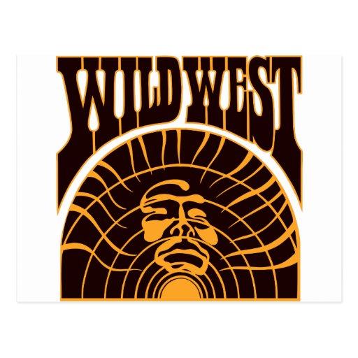 Estilo indio del oeste salvaje real tarjetas postales