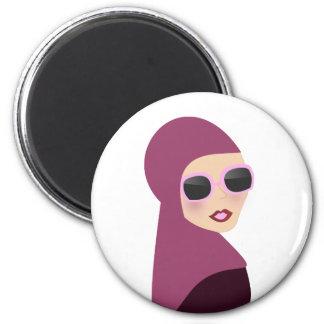 Estilo islámico de la señora del hijab del muslima imán redondo 5 cm